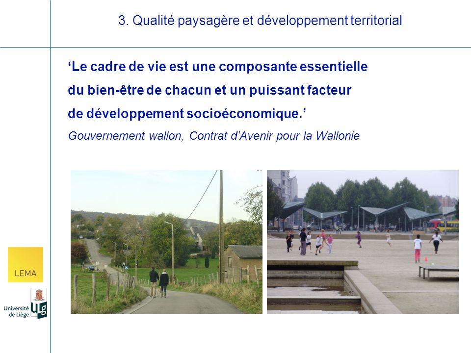 Le cadre de vie est une composante essentielle du bien-être de chacun et un puissant facteur de développement socioéconomique.