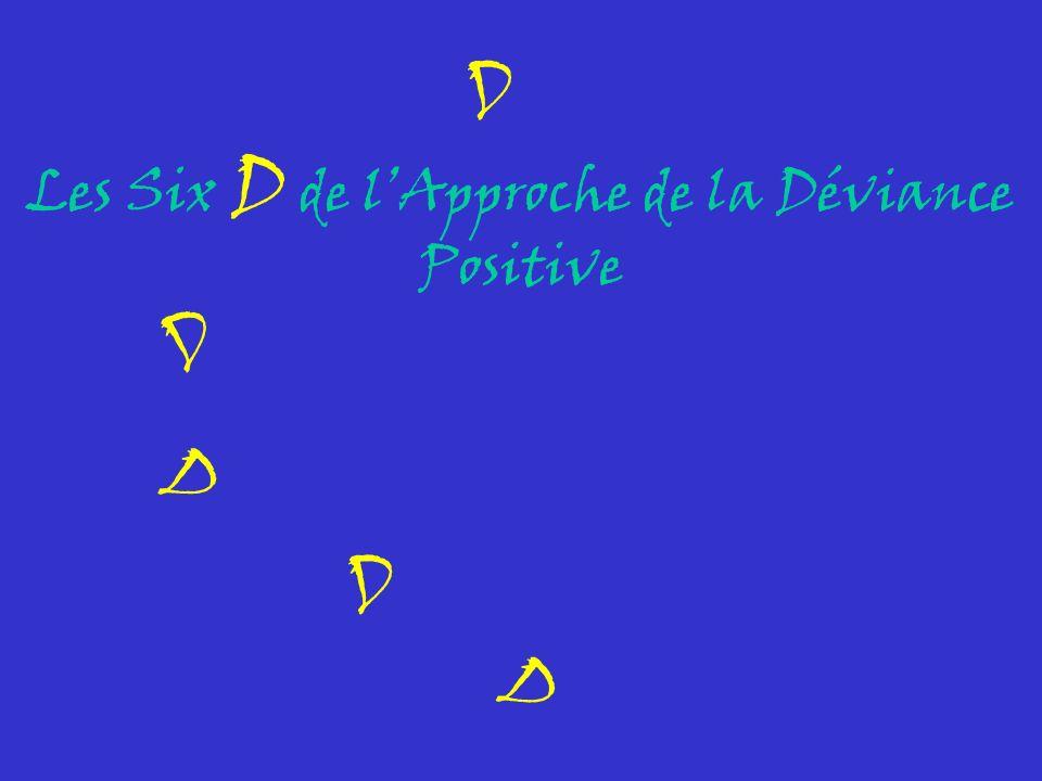 Les Six D de lApproche de la Déviance Positive D D D D D