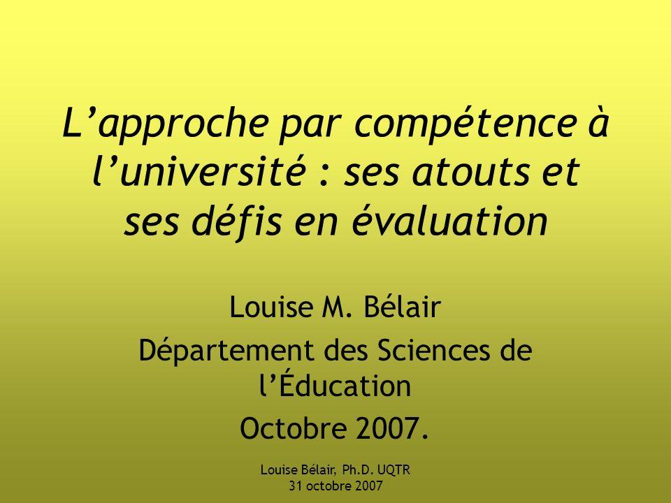 Louise Bélair, Ph.D.