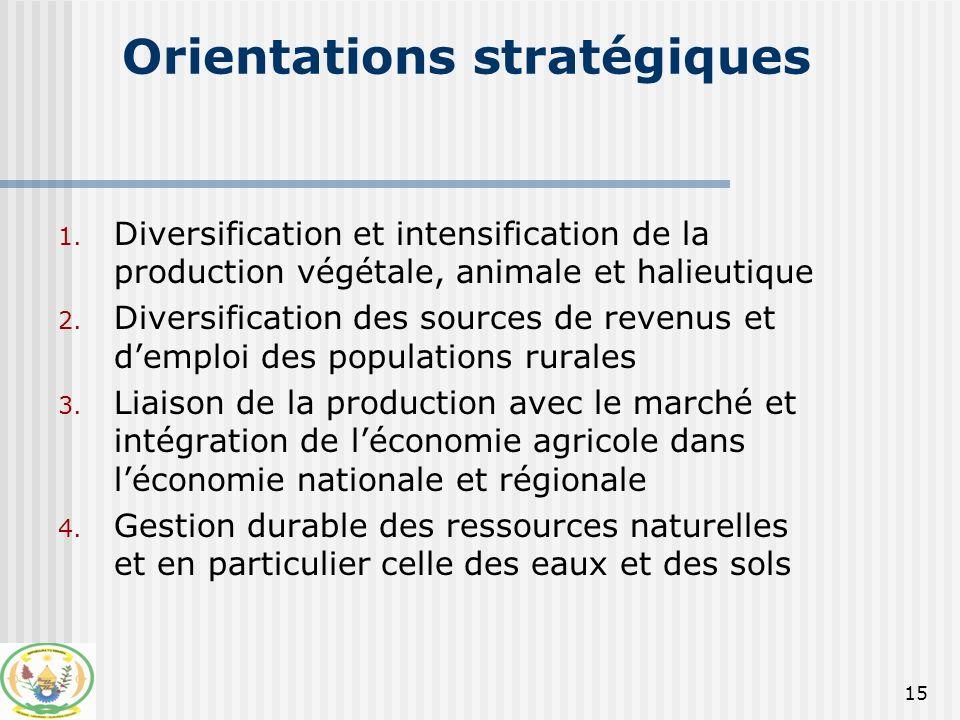 16 Orientations stratégiques (suite) 5.