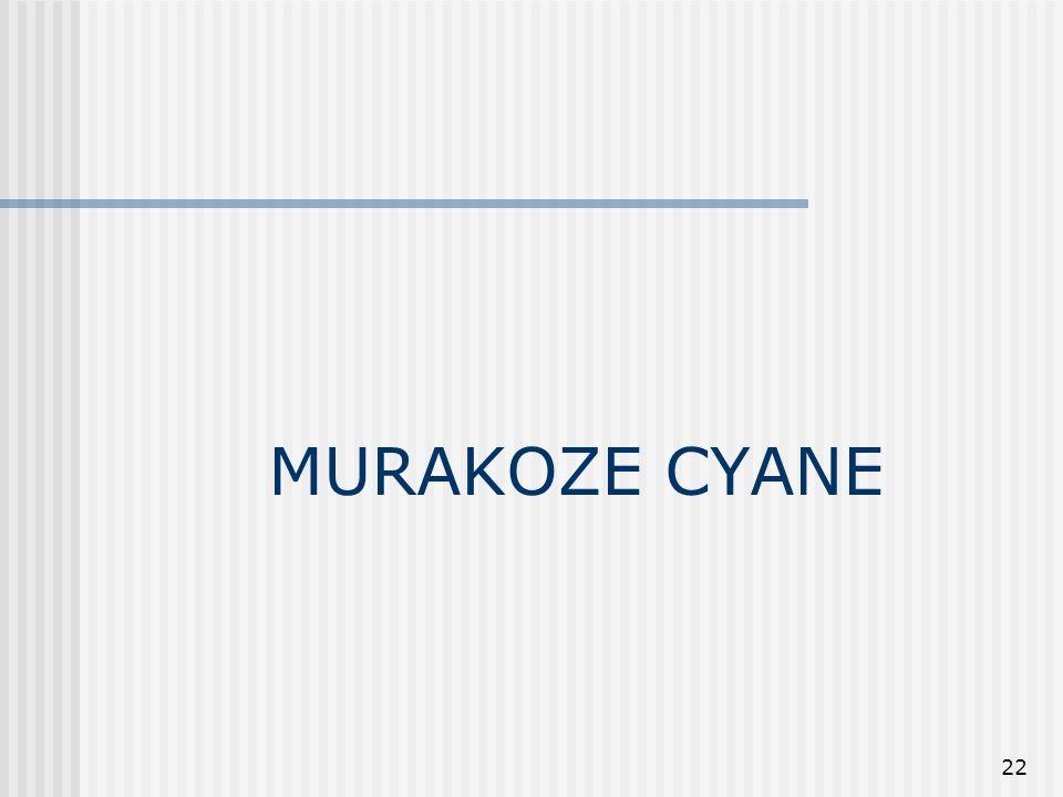 22 MURAKOZE CYANE