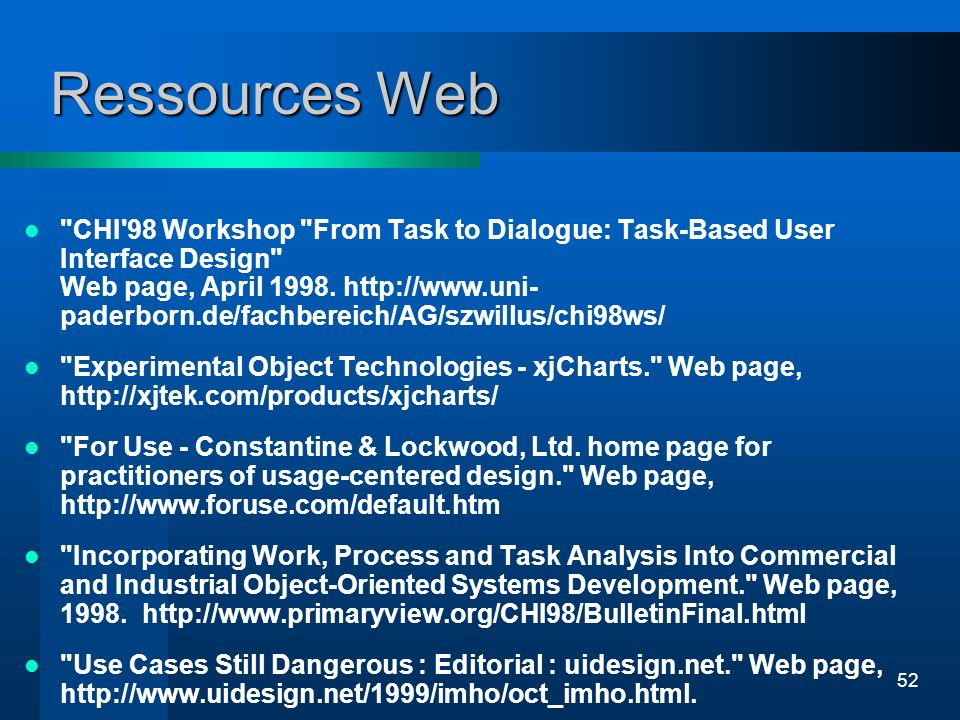 52 Ressources Web