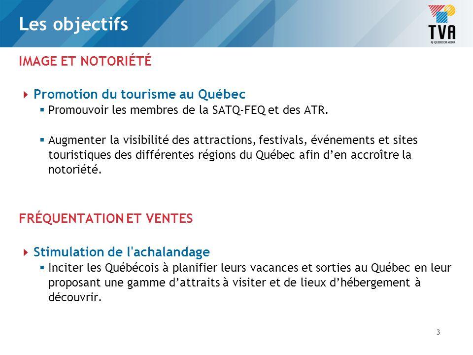La stratégie Valoriser et accorder une « vitrine de premier choix» à tous les secteurs dactivités des membres de la SATQ-FEQ et des ATR.