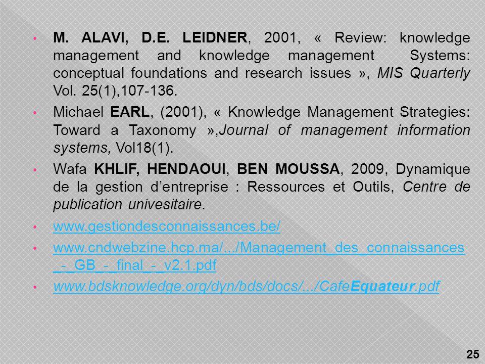 Agnès LANCINI, 2003, « Les déterminants du succès des Systèmes de Gestion des Connaissances (SGC) : étude de cas dune mutuelle dassurances », In 8 ème