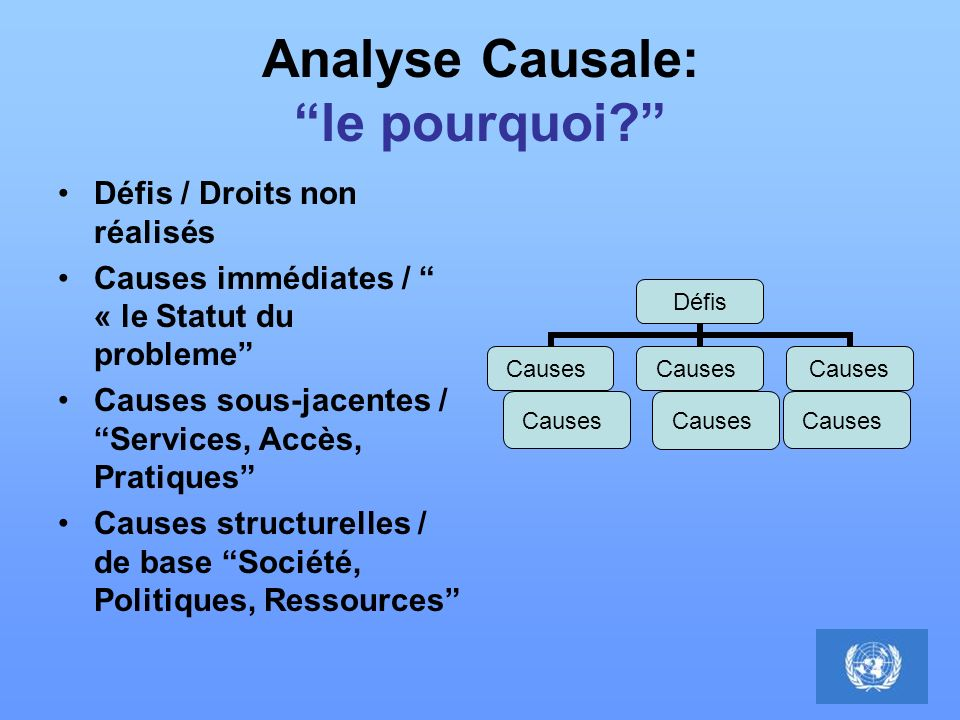 Analyse Causale: le pourquoi.