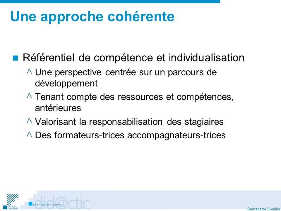 Bernadette Charlier Une évaluation incohérente..