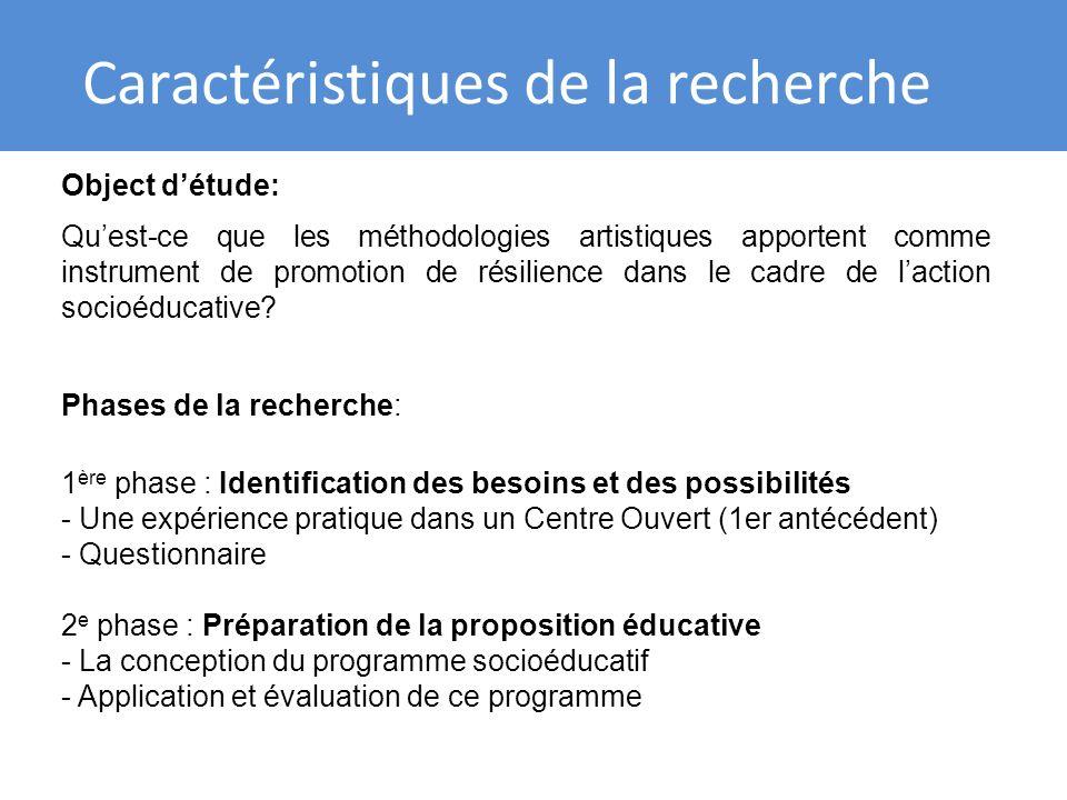 Expérience daction socioéducative et de la promotion de résilience a travers de stratégies artistiques OU.