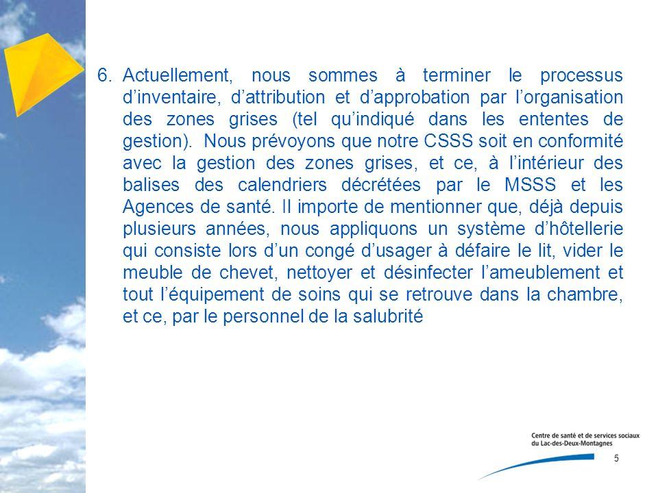 7.7.Le CSSS respecte en totalité les règlements qui concernent la gestion des déchets biomédicaux.