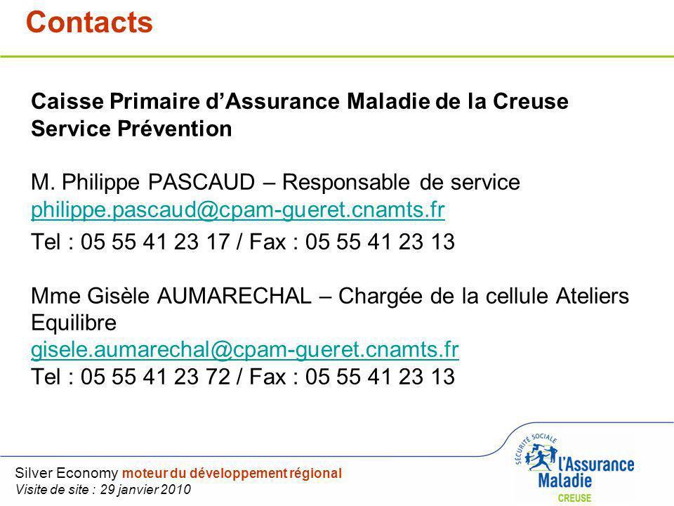 Sommaire Caisse Primaire dAssurance Maladie de la Creuse Service Prévention M. Philippe PASCAUD – Responsable de service philippe.pascaud@cpam-gueret.