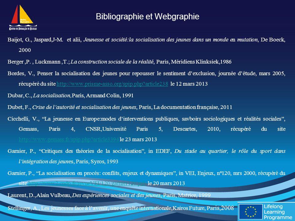 Bibliographie et Webgraphie Baijot, G., Jaspard,J-M.