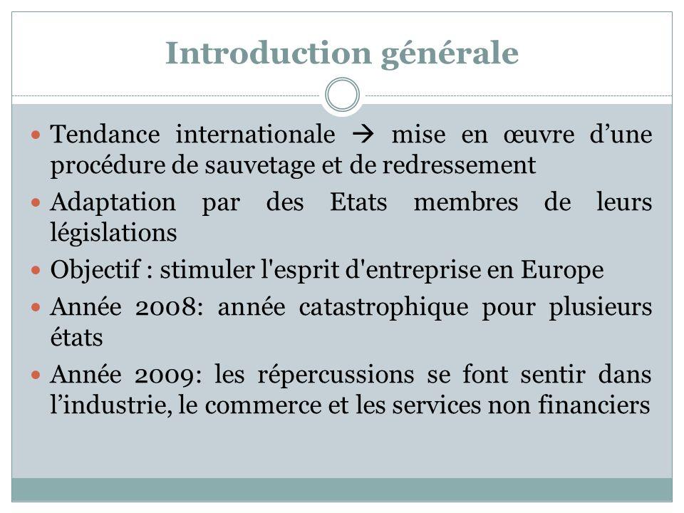 Belgique Tous les records négatifs - 2008 Très grand nombre de faillites Raisons: diminution de pouvoir dachat des consommateurs et le nombre croissant des mauvais payeurs, en particuliers publics