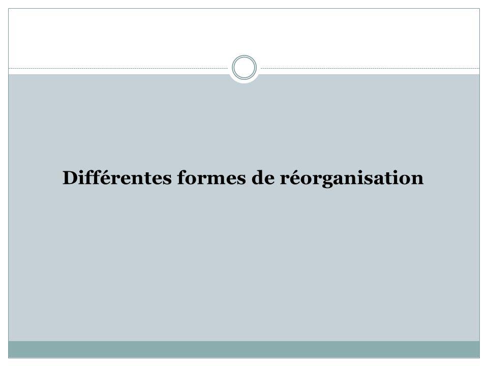 Différentes formes de réorganisation