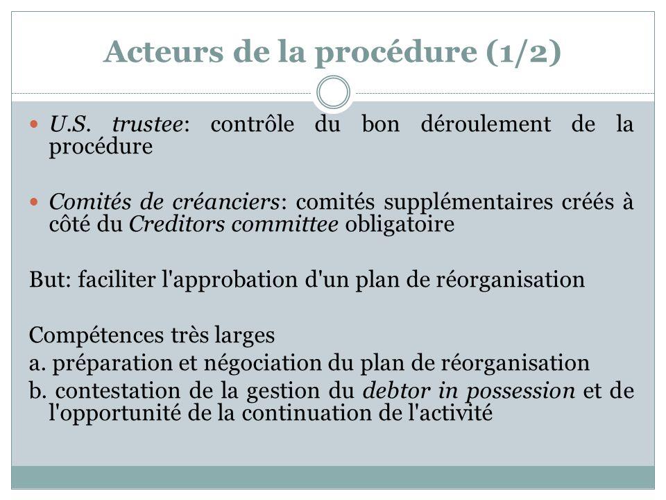 Acteurs de la procédure (1/2) U.S.