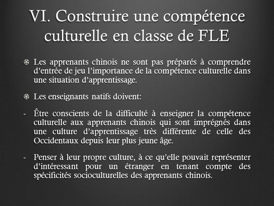 VI. Construire une compétence culturelle en classe de FLE Les apprenants chinois ne sont pas préparés à comprendre dentrée de jeu limportance de la co