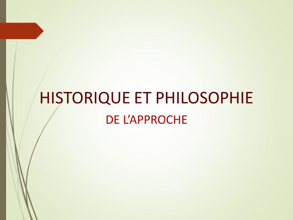 HISTORIQUE ET PHILOSOPHIE DE LAPPROCHE