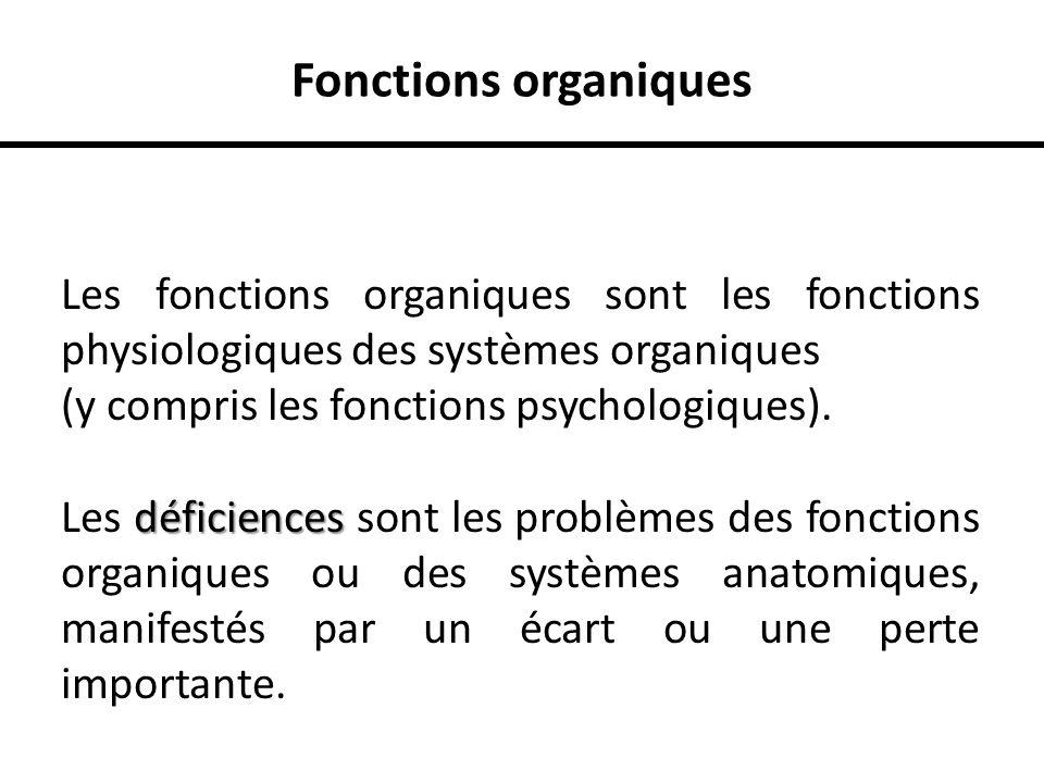 Fonctions organiques Les fonctions organiques sont les fonctions physiologiques des systèmes organiques (y compris les fonctions psychologiques). défi
