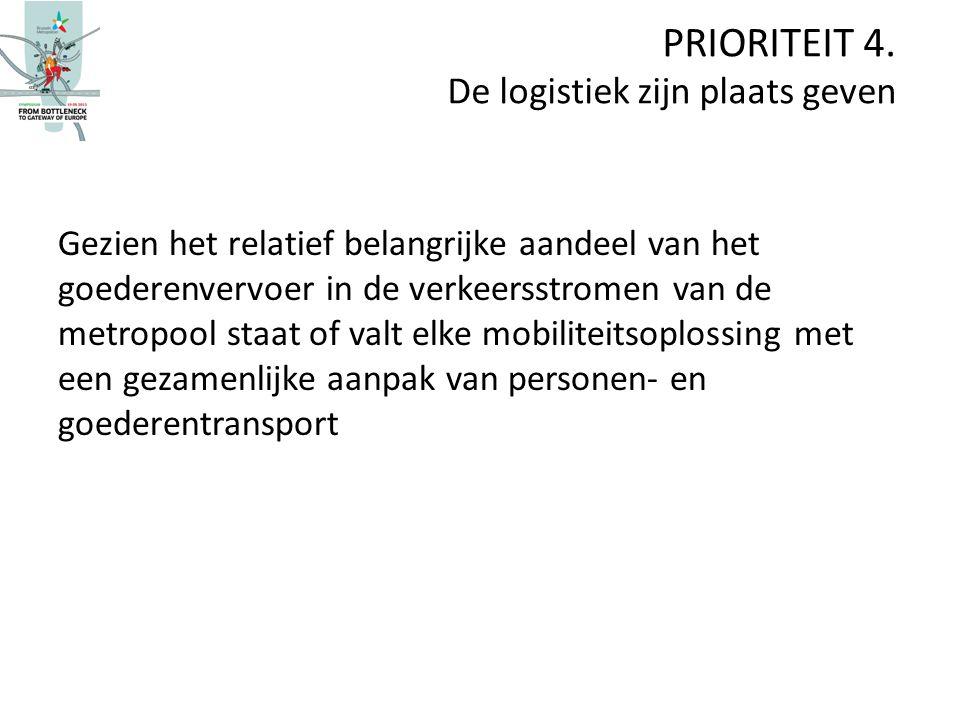 Gezien het relatief belangrijke aandeel van het goederenvervoer in de verkeersstromen van de metropool staat of valt elke mobiliteitsoplossing met een