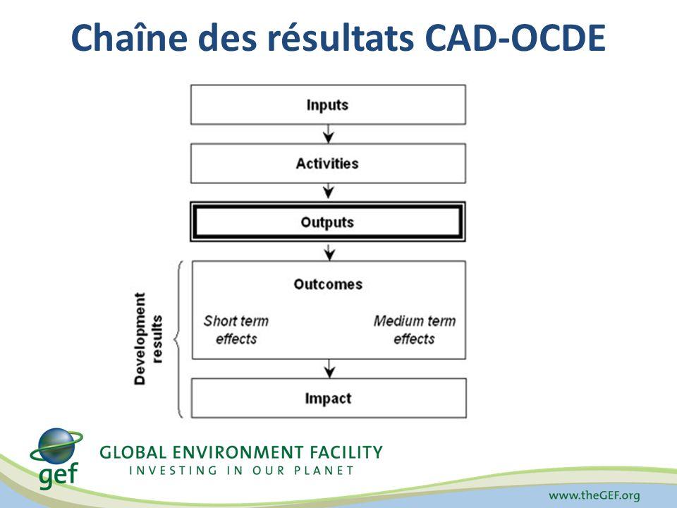 Chaîne des résultats CAD-OCDE