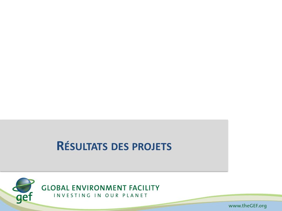 Dégradation des sols : Nombre dhectares de terres faisant lobjet dune gestion durable Source: Fonds pour lenvironnement mondial