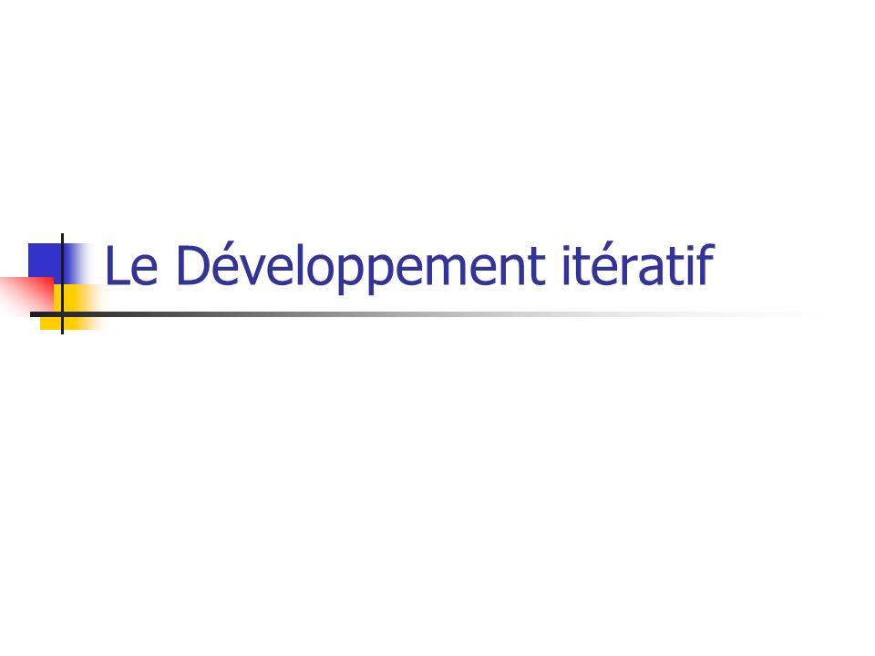Le Développement itératif