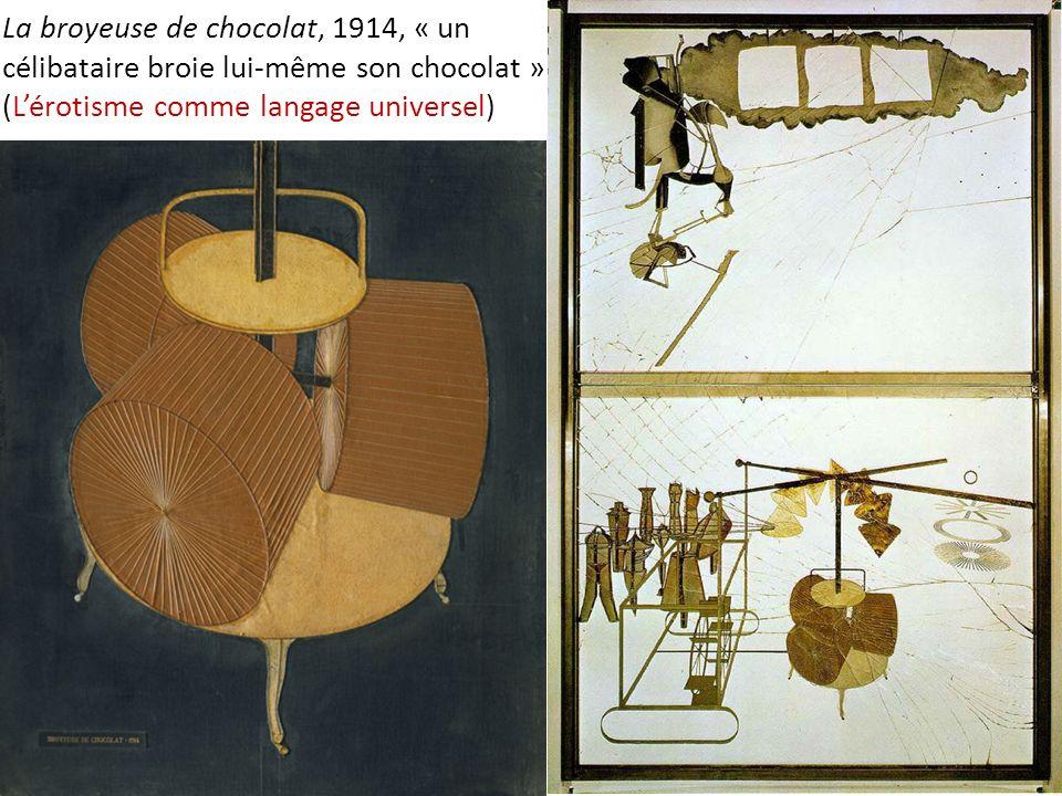 La broyeuse de chocolat, 1914, « un célibataire broie lui-même son chocolat » (Lérotisme comme langage universel)
