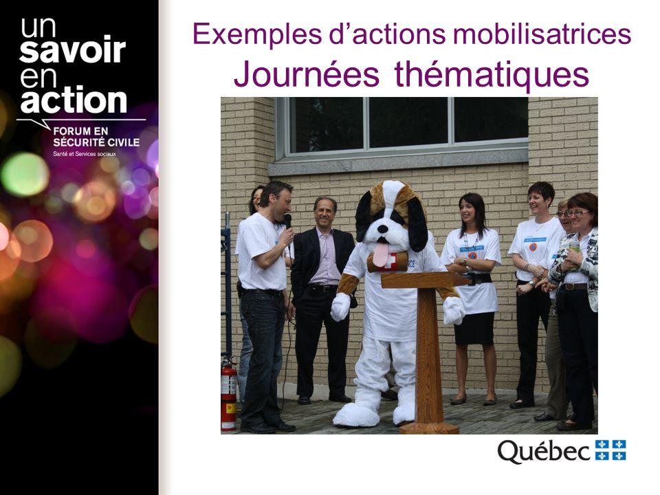 Exemples dactions mobilisatrices Journées thématiques
