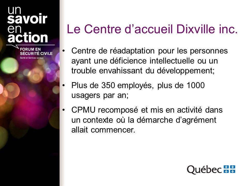 Le Centre daccueil Dixville inc.