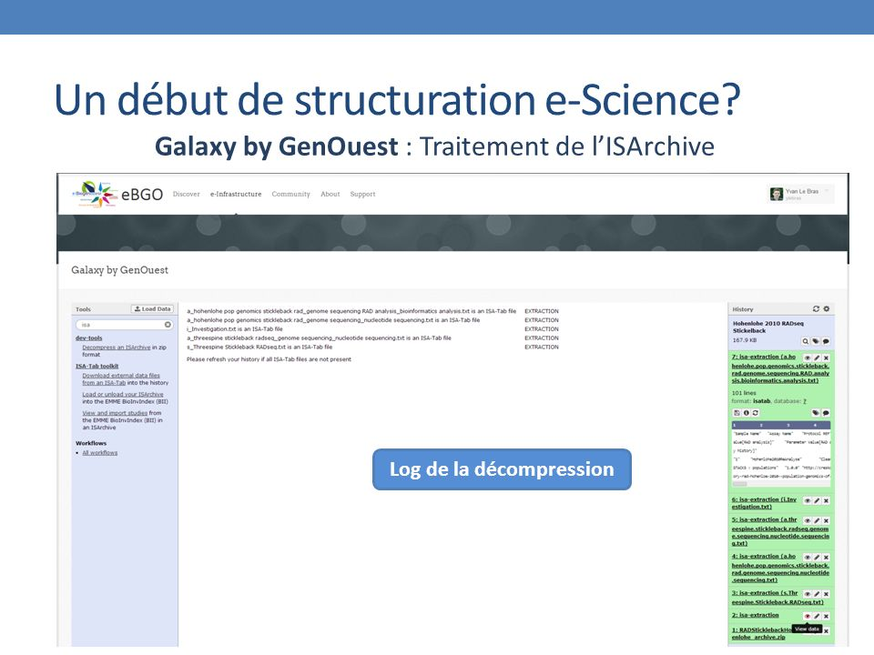 Un début de structuration e-Science.