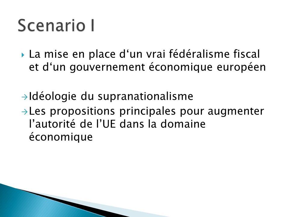 La mise en place dun vrai fédéralisme fiscal et dun gouvernement économique européen Idéologie du supranationalisme Les propositions principales pour augmenter lautorité de lUE dans la domaine économique