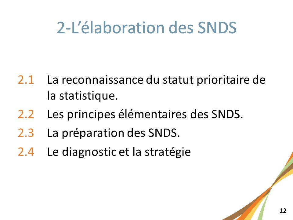 12 2.1La reconnaissance du statut prioritaire de la statistique.