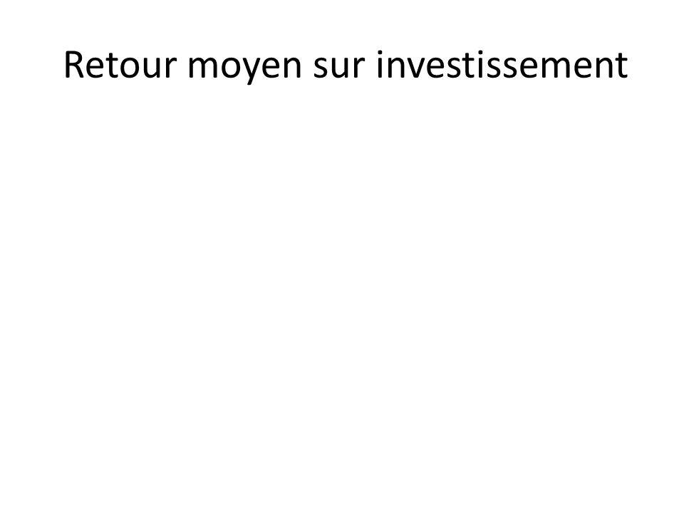 Retour moyen sur investissement