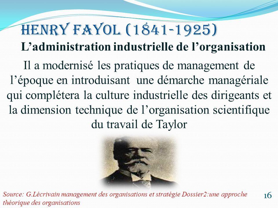 Les fondements du fayolisme 17 Analyser les différentes fonctions de lentreprise Porter une attention aux questions de coordination et de coopération.
