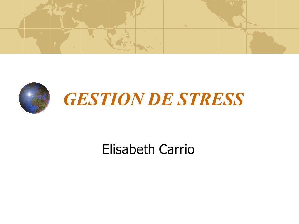 Lintelligence du stress Que pensez-vous intuitivement du stress? Définition Ressenti