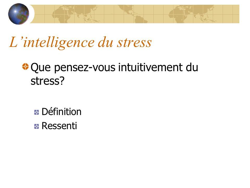 Lorigine du stress Dans le monde animal, le stress fonctionne comme un mécanisme de défense et de survie, certes primitif, mais tout-à-fait adapté à lenvironnement.