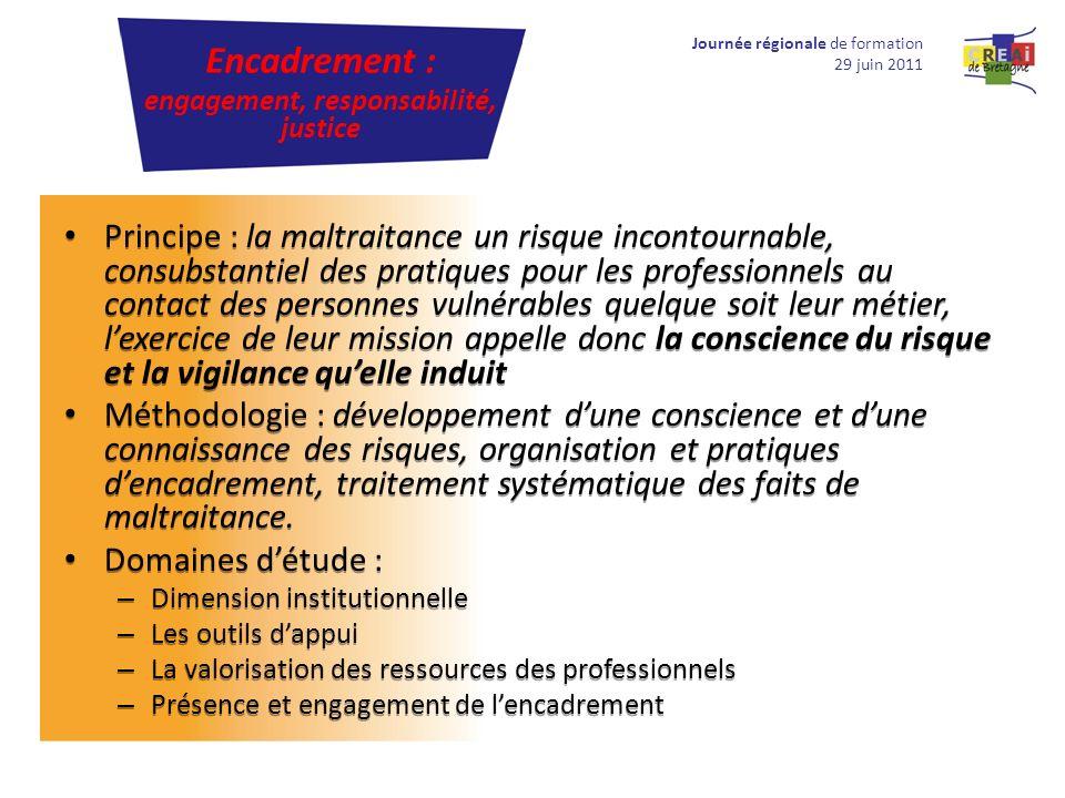 Principe : la maltraitance un risque incontournable, consubstantiel des pratiques pour les professionnels au contact des personnes vulnérables quelque