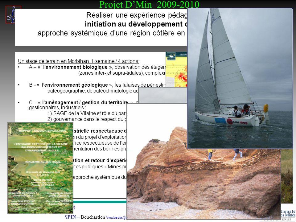 Projet DMin 2009-2010 Stage Développement Durable 14-09-2009.