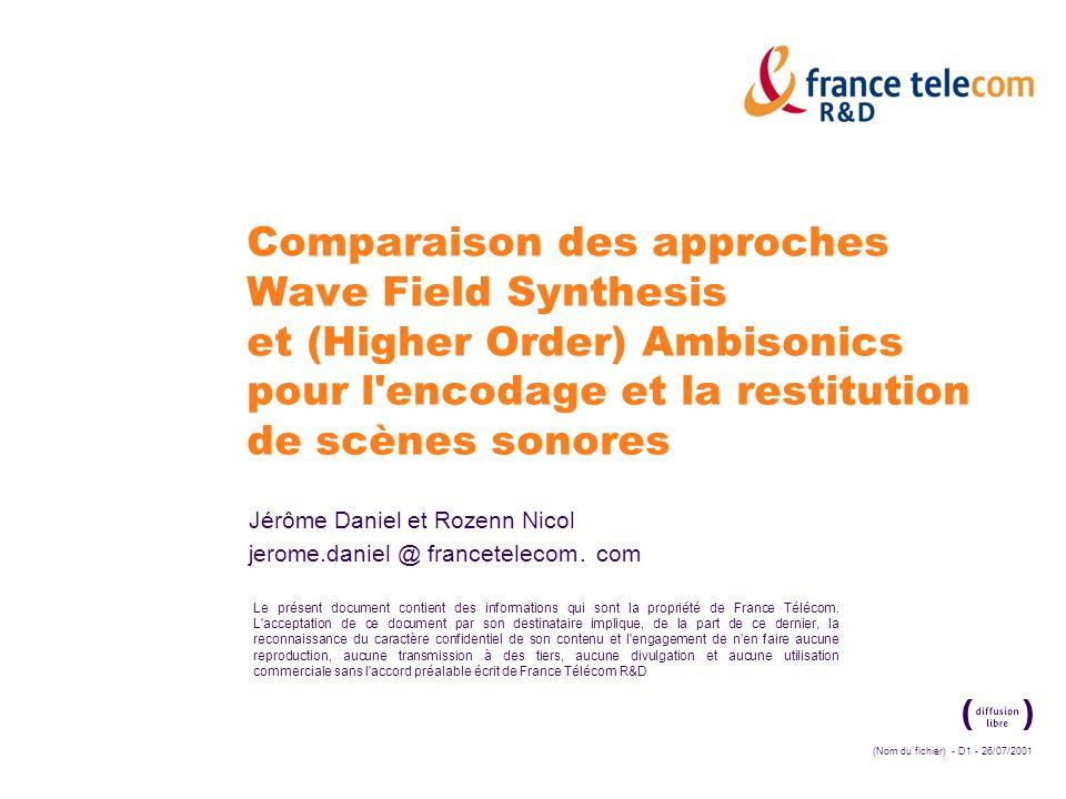France Télécom R&D Lillusion sonore… par quels moyens.