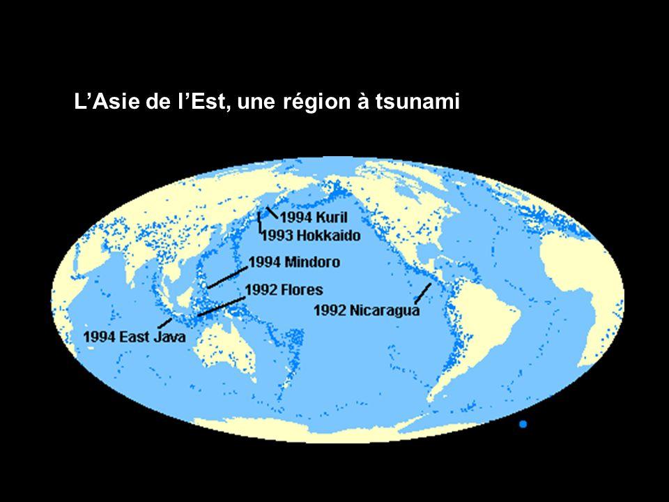 LAsie de lEst, une région à tsunami