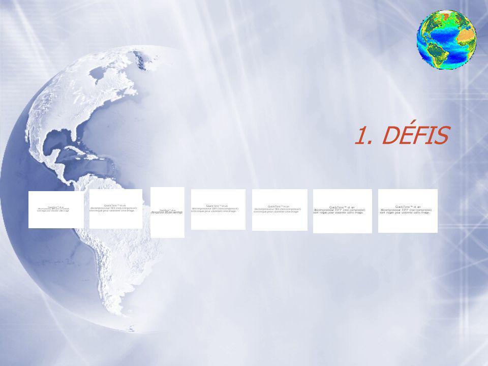 Plan : émergence du développement durable 1.Les défis 2.Les grandes dates du DD 3.Définition des concepts clés 4.Le cadre général de lapplication