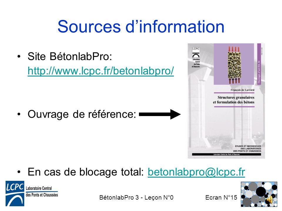 BétonlabPro 3 - Leçon N°0 Ecran N°14 Comment utiliser ce cours? Matériel nécessaire: ordinateur avec –leçons (en ligne… ou mieux en direct) –BétonlabP