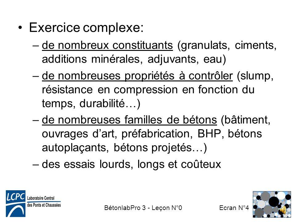 BétonlabPro 3 - Leçon N°0 Ecran N°3 La formulation des bétons aujourdhui Béton = 1° matériau de construction du monde La qualité dune construction sup