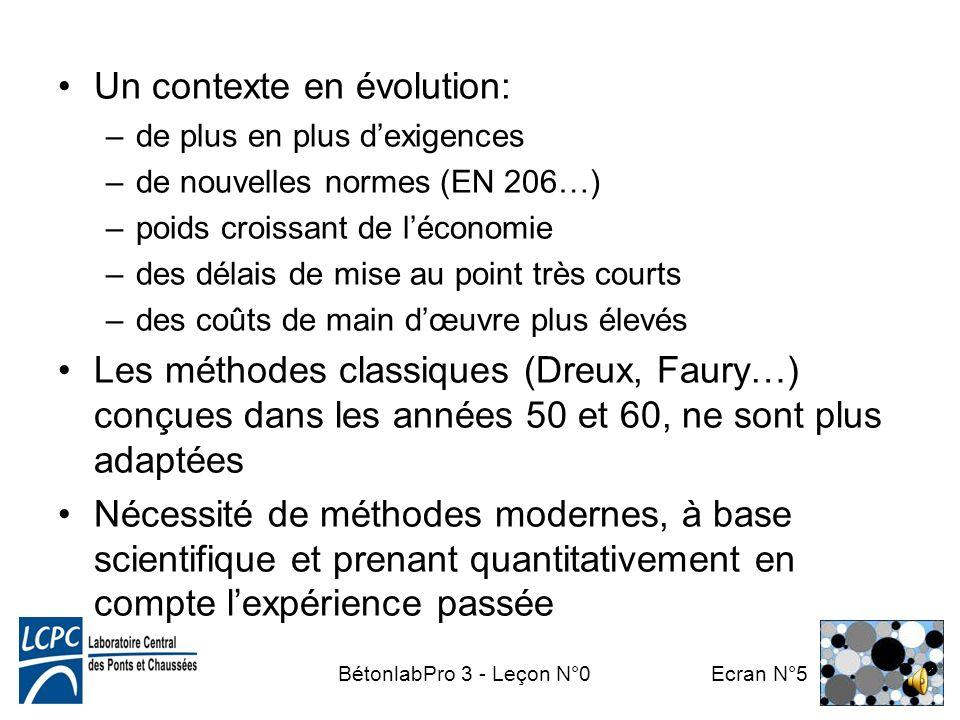 BétonlabPro 3 - Leçon N°0 Ecran N°4 Exercice complexe: –de nombreux constituants (granulats, ciments, additions minérales, adjuvants, eau) –de nombreu