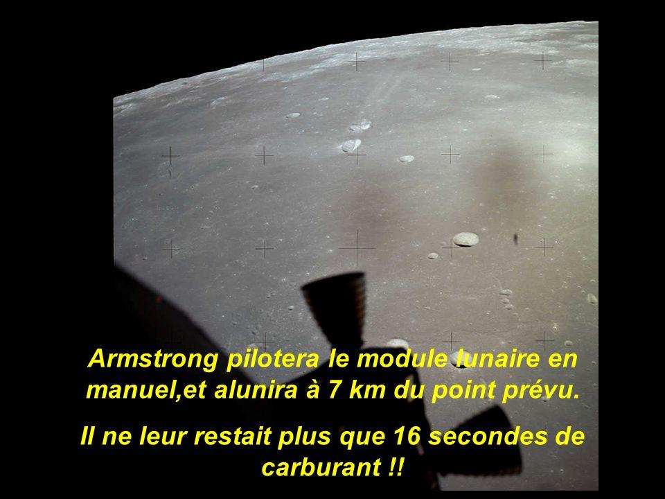 Neil Armstrong et Buzz Aldrin plongent vers Mare Tranquillitatis. Lordinateur de bord est saturé…
