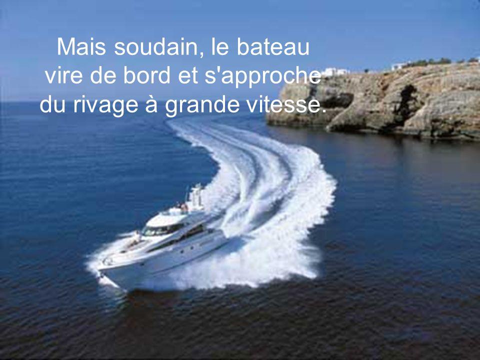 Mais, près de lui, un homme l observe et lui dit : «Ne sois pas stupide, le bateau ne va pas changer de direction parce que tu agites les bras !»