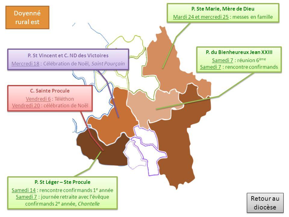 Retour au diocèse Retour au diocèse Doyenné rural ouest P.