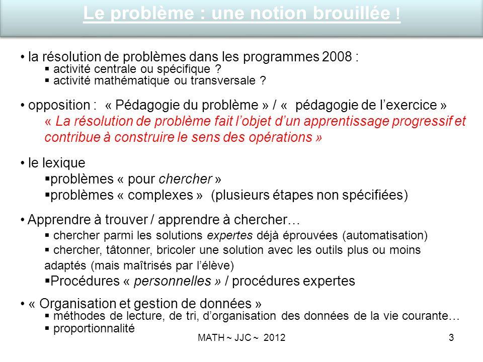 3 la résolution de problèmes dans les programmes 2008 : activité centrale ou spécifique .
