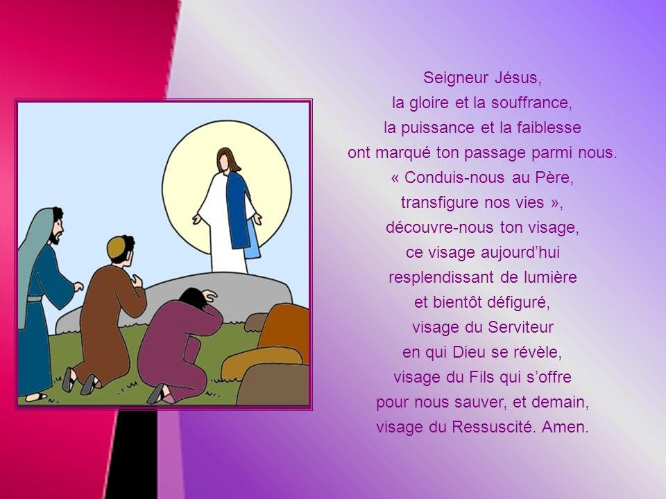L a voix de la nuée redit les mêmes paroles quau moment du baptême de Jésus. Elle ajoute cependant : « Écoutez-le! » Les disciples vont maintenant acc