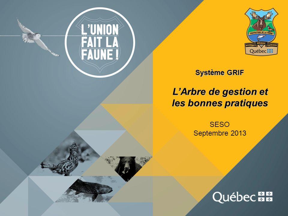 Système GRIF LArbre de gestion et les bonnes pratiques SESO Septembre 2013