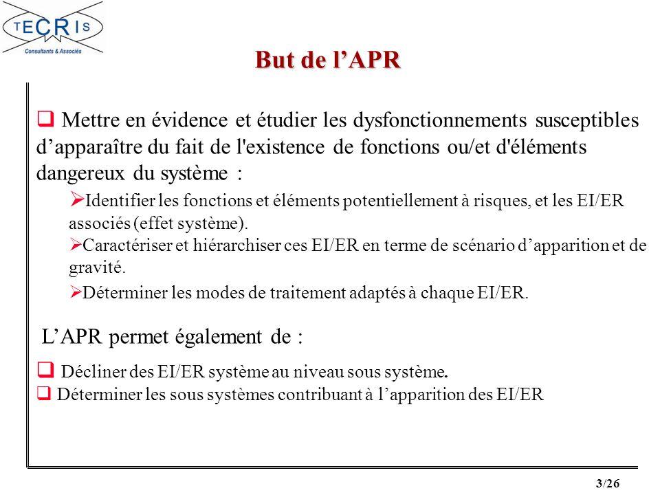 4/26 LAPR peut seffectuer dès la phase exploratoire : Dès que lon connaît les fonctions à remplir par le système.