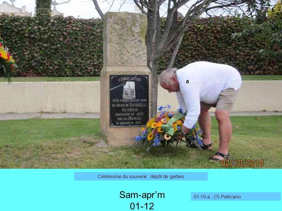 Sam-aprm 01-12 Cérémonie du souvenir : dépôt de gerbes 01-10-a : (?) Pellicano a
